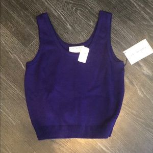 ST.JOHN Vintage Knit Purple Tank